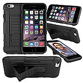 Orzly® Iphone 6 & 6S Rugged Shock Proof Heavy Duty Armor Tough Hard Case - Black