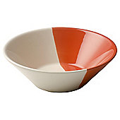 Retro Dipped Cereal Bowl, Orange