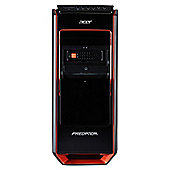 Acer Predator G3-605 Gaming Desktop Base Unit, Intel Core i7, 8GB RAM, 1TB + 120GB SSD, nVidia GTX 760 1.5GB Graphics, 500w PSU - Black