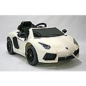 Kids Electric Car Lamborghini Aventador 12 Volt White Gloss