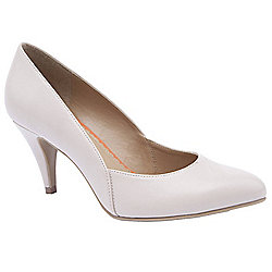 Ladies Emilio Luca X Two Part Stiletto Beige Court Shoes