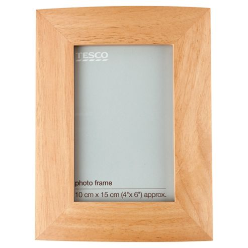 Tesco curve light wood frame 4x6