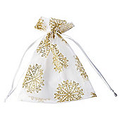 Gold Snowflake Christmas Bags, 3 pack