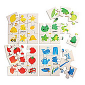 Bigjigs Toys BJ080 Colours Puzzles Set 1 (Set of 4)