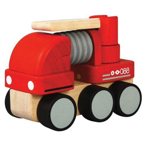 Plan Toys Mini Fire Engine Wooden Toy