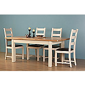 Altruna Rayleigh 5 Piece Dining Set - Painted Cream