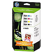 HP 364 4-pack Black/Cyan/Magenta/Yellow Original Ink Cartridges