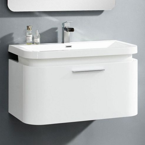 Buy Prestige Opal Round Wall Mounted Vanity Unit With