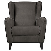 Sophia Wingback Herringbone Occasional Chair, Mocha