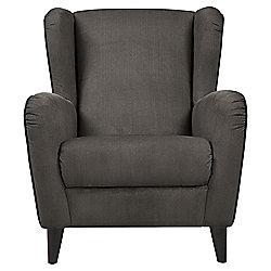 Sophia Wingback Herringbone Occasional Chair, Mocha