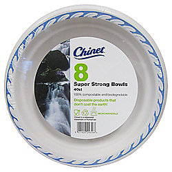 CHINET BOWLS WITH BLUE RIM 8 PACK
