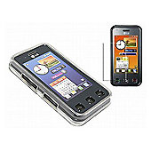 White Twin Pack ProGel Skin Case & LCD Screen Protector - LG KC910 Renoir