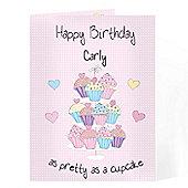 Personalised Cupcake Card