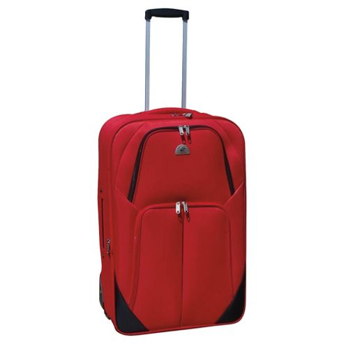 Beverly Hills Polo Club 2-Wheel Suitcase, Red & Black Medium