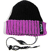 hi-Fun hi-Hat Earphone Hat with Mic Black Violet Purple