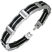 Urban Male Two Colour Men's Bracelet In Stainless Steel