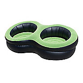 Yellowstone Deluxe Double Inflatable Armchair Black/Green