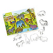 Cooksmart Kids 8 Piece Safari Cookie Cutter Set