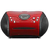 Lenco SCD24 Portable CD/Radio Stereo System (Red)