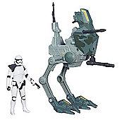 Star Wars 9cm Stormtrooper Sargeant Figure and Assault Walker Vehicle