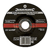 Silverline Heavy Duty Metal Grinding Disc Depressed 125 x 6 x 22.23mm