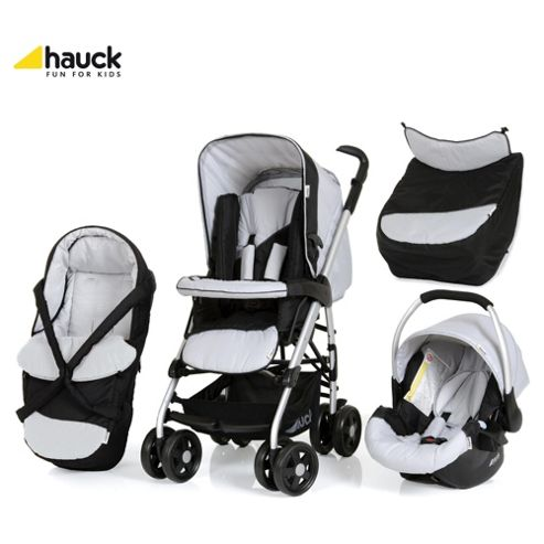 Hauck Eagle Trio Set, Travel System, Caviar/Silver