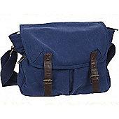 Summit Canvas Messenger Bag Blue