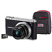 "Samsung WB350F Smart Digital Camera, Black, 16.3MP, 21x Optical Zoom, 3"" Screen, Wi-Fi, 4GB SD Card & Case"