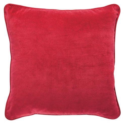 F&F Home Velvet Cushion, Red