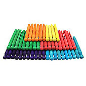 Coloured Dolly Pegs 50 Pk
