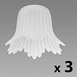 Set of Three Frosted Fluted Petal Shades