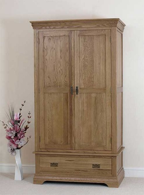 Buy Bordeaux Rustic Solid Oak Double Wardrobe Bedroom Furniture From Our Double Wardrobe Range