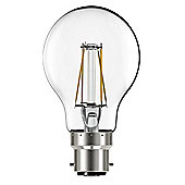 Liteway LW8805 Filament 4w BC B22 GLS LED Bulb, 400 Lumen, Warm White, 40w Traditional Replacement [Energy Class A+]