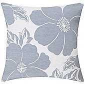 KLiving Malaga Floral Cushion Cover Blue 43x43cm(Pack of 2)