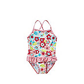 Babeskin Floral Print Frill Swimsuit - Multi
