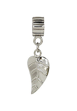 Chrysalis Silver Hanging Leaf Charm Slide On Spacer