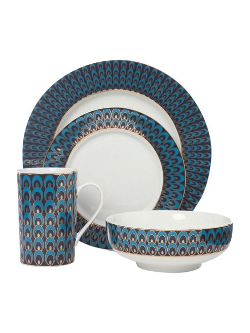 buy pied a terre peacock 16 piece dinner set from our. Black Bedroom Furniture Sets. Home Design Ideas
