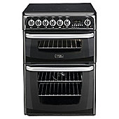 Hotpoint Electric Cooker with Electric Grill and Ceramic Hob, CH60EKK S - Black