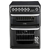 Cannon by Hotpoint CH60EKKS, Freestanding, Electric Cooker, 60cm, Black, twin cavity, Double Oven