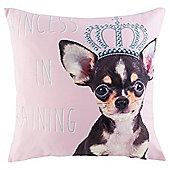 Novelty Princess Puppy Cushion