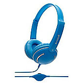 Groov-e GV897/BLUE Streetz Stereo Headphones with Volume Control - Blue