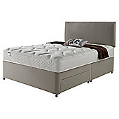 Silentnight Miracoil Luxury Memory Non Storage Double Divan Mink with Headboard