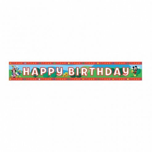 Mickey Mouse Happy Birthday Foil Banner 4.5m - Amscan