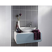 Brighton Grey Ceramic Wall Tile 248x398mm
