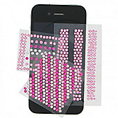 Bling Sticker Pink and Silver Diagonal T-Mob