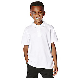 F&F School 5 Pack of Boys Polo Shirts with As New Technology