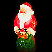 Illuminated Moulded Santa & Puppy Figure