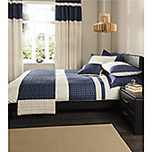 Catherine Lansfield Geneva Super King Size Quilt Set Navy