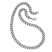 Mens Steel Rounded Curb Chain Necklace
