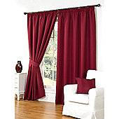 Hamilton McBride Waffle Lined Pencil Pleat Curtains - Red